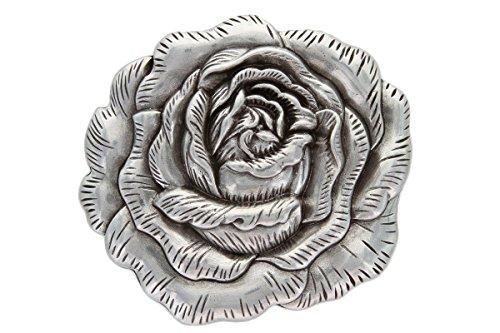 3-d Engraved Rose Belt Buckle Made for 1.5