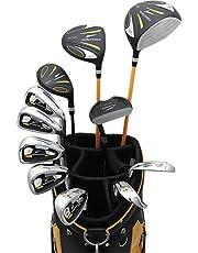 WORLD EAGLE(ワールドイーグル) 5Z メンズ ゴルフ クラブ フルセット ブラック CBX007 オレンジブラック バッグVer. 右用 フレックスR WE-5Z-BK-R-CBX007