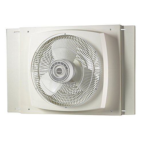Lasko 2155A 16″ Electrically Reversible Window Fan-Features Storm Guard and 3 Intake and 3 Exhaust Speeds, 2155