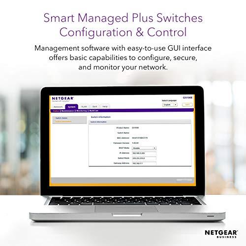 NETGEAR 50-Port Gigabit Ethernet Smart Managed Plus Switch (GS750E) - with 2 x 1G SFP, Desktop/Rackmount, and ProSAFE Limited Lifetime Protection