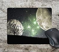Moon Moons Galaxy Artコンピューターマウスパッドマウスパッドマウスマットマットパッド滑り止め 18x22cm