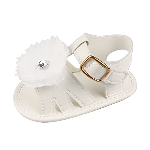 10a7eb281d900 Estamico Baby Girls  Summer Flower Shoes Infant Sandals First Walkers