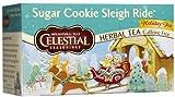 Celestial Seasonings Sugar Cookie Sleigh Ride Tea Bags - 20 ct - 6 pk