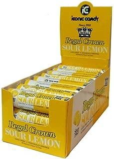 Regal Crown Hard Candy Rolls - Sour Lemon 24 ct