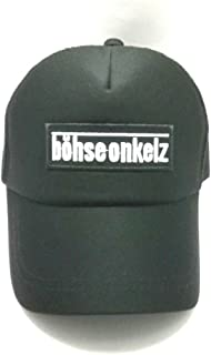 Wasuphan BOHSE ONKELZ Music Band Metal Punk Rock Logo Iron on sew on Patch Sign Badge Symbol Patch Iron on Applique Unisex Trucker Hat Classic Baseball Hat Unique Trucker Cap