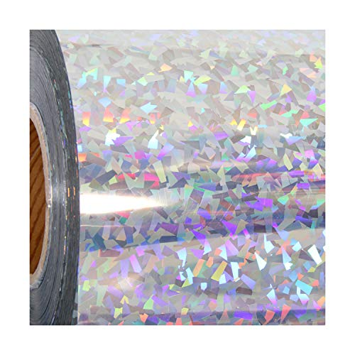 """Threadart Holographic Crystal Silver 20"""" Heat Transfer Vinyl Film 
