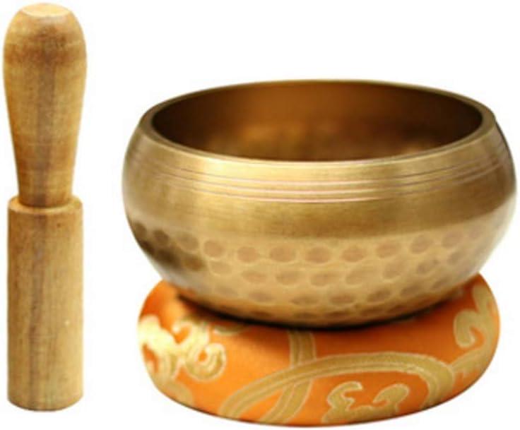 DLVKHKL Tazón tibetana tallada personalizada, regalo para restauración de sonido, meditación, relajación, yoga