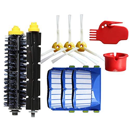 kaige Kit Brosse Kit de 10 Pièces Accessoires (Brosses Latérale, Filtres, Brosse de Cerda et etc.) pour Aspirateur Robot