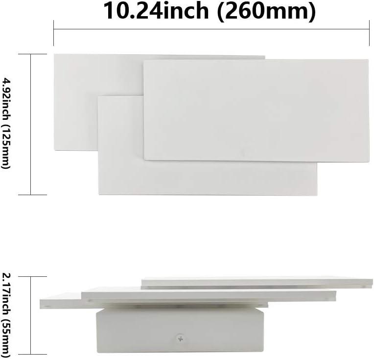 Klighten LED Wall Lights Indoor Modern White Wall Wash Lights 24W Warm White LED Sconce for Living Room Hallway Bedroom