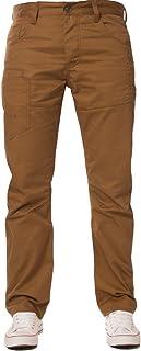 Mens ENZO Straight Leg Regular Fit Denim Coloured Jeans All Waist