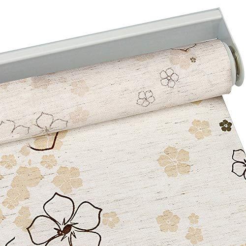 LIQICAI Fensterrollo Verdunkelungsrollo Rollo for Fenster Wärmeisoliert Raumverdunkelung Fensterschatten Blind Kit Mit Federsystem (Color : Beige, Size : 160x220cm)