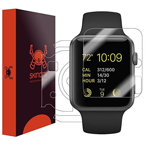 Skinomi TechSkin - pellicola protettiva per Apple Watch, Apple Watch 1 38mm - per il display e il retro del quadrante - Resistente all'acqua