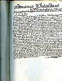 ORDONNANCE D'INTENDANT DEPEND QUI D'EXPORTER DE LANDRES A L'ETRANGER DES FUMIERS FIENTE DE PIEGEON PAINS DE NAVETTE ET TOURTEAUX DE COLZAL - 1773 - MANUSCRIT .