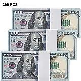 Chinco 300 Pièces Copie Argent 100 Dollar Billets Argent de Prop Argent Faux Imprimé de Double Face Jouet Éducatif d'Argent pour Fournitures de Prop de Fête de Film