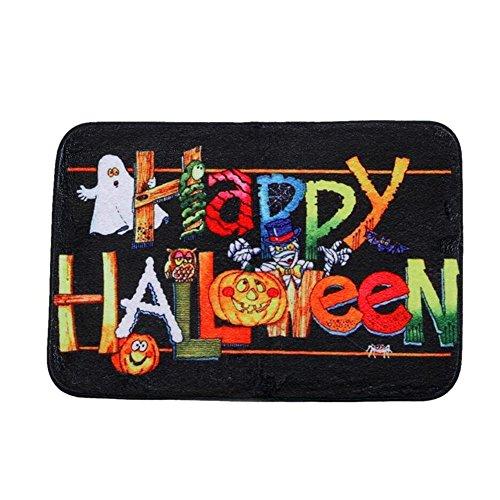 Teppich Happy Halloween Home Schlafzimmer Tür Anti-Rutsch-Matte Teppich Klett Anti-Rutsch-Matte Anti-Rutsch-Aufkleber Square
