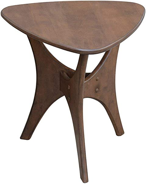 Ink Ivy Blaze Accent Tables Wood Side Table Pecan Mid Century Modern Style End Tables 1 Piece Small Tables For Living Room