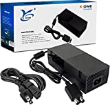 Power Supply for Xbox One- Power Brick for Xbox One with Power Cord Replacement Enhanced Cool Version AC Adapter Charger for Microsoft Xbox One Console 100V-240V
