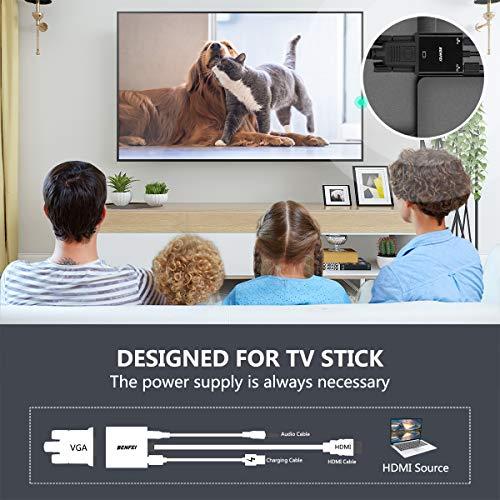 『HDMI to VGA, Benfei 金メッキコネクタ搭載1080P HDMI オス to VGAメスビデオ変換アダプタケーブル PC DVD HDTV用』のトップ画像