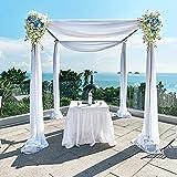 2 paneles de gasa de tela para bodas, paneles de cortina de fondo, decoración de ceremonia, escenario de recepción