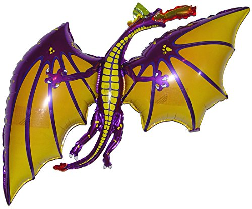 SPACE PET Flying Dragon Purple 36 inch Zero-Gravity Hovering Toy with Invisible Floating Height Control Weightpacs