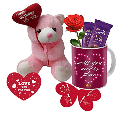 SKYTRENDS Valentine Day Gift - Girlfriend ,Wife,Husband ,Boyfriend Best Gift For Valentine Day Gift- Coffee Mug,With HAPPY...