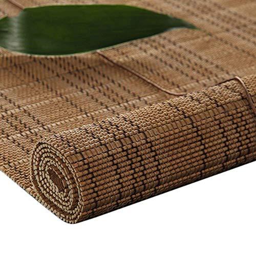 LMZJLU Persianas Enrollables De Bambú Perspectiva De Sombra De Sol Cortina De Rollo De Balcón Cortina De Partición Sala De Estar Dormitorio Cortina De Bambú Retro (Tamaño: 80X120Cm)