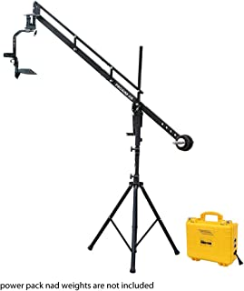 PROAIM 9ft Camera Crane Portable Jib, Jr. Pan Tilt Head, Tripod Stand P-9-JS-JRPP for DSLR Video Cameras up to 8kg/17.6lbs | Best Travel-Friendly Jib with Carrying Bag