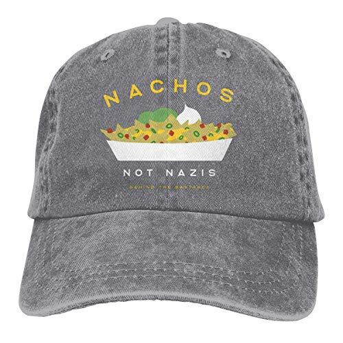 Ameok-Design Nachos Not Nazis - Gorra de béisbol para hombre y mujer