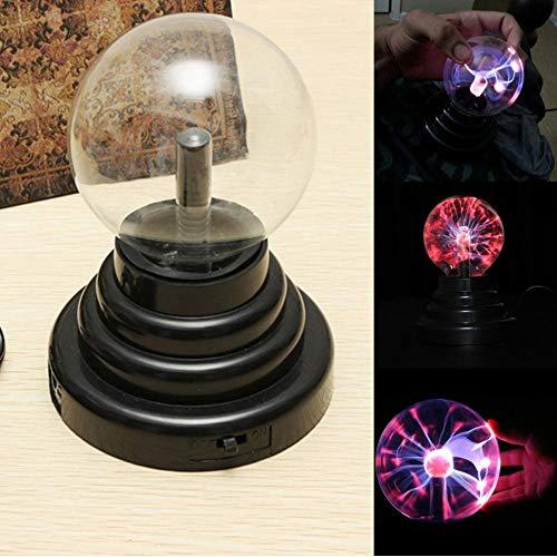 Zshhy Lámpara de iluminación de esfera de bombilla de plasma Lámpara de bola redonda eléctrica de jugueteB Lámpara de iluminación