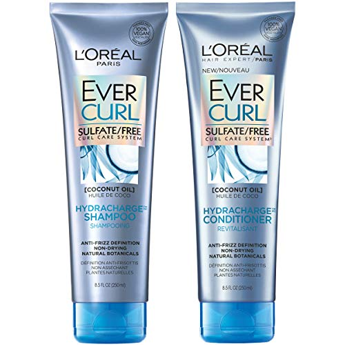 L'Oréal Paris EverCurl Shampoo & Conditioner Kit for Curly Hair, 8.5 Ounce, Set of 2 (Packaging May Vary)