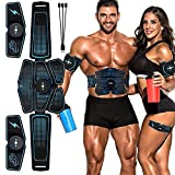 RHoet Estimulador de músculo Abdominal Entrenador EMS ABS Fitness Equipo de Entrenamiento Músculos Músculos Electrostimulator Tóner Ejercicio en casa Gimnasio Entrenador de Abdominales