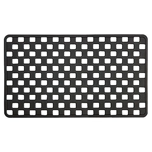 Seaslkin Doby Sicherheitseinlage für Badewanne und Dusche, Farbe: Schwarz, Kunststoff, Größe: 75x38 cm