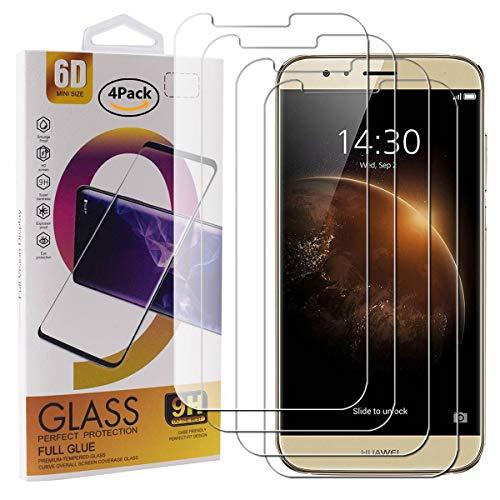 Guran 4 Paquete Cristal Templado Protector de Pantalla para Huawei G8 Smartphone...