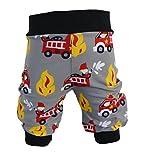 Pumphose,Babyhose,Kinderhose Feuerwehr grau rot von NEJA Design (98/104)