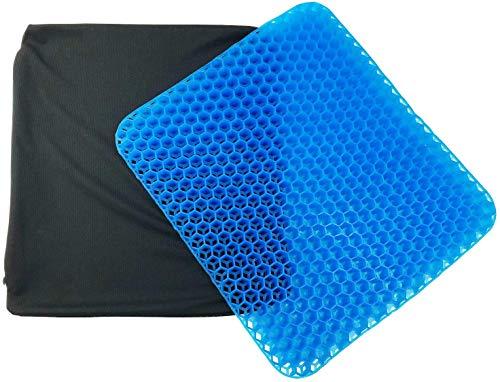 Honeycomb Egg - Cojín para Silla de Ruedas con Doble Funda Antideslizante para Silla de Oficina, hogar, Alivio del Dolor de Espalda y ciática (Azul, 1 Funda)