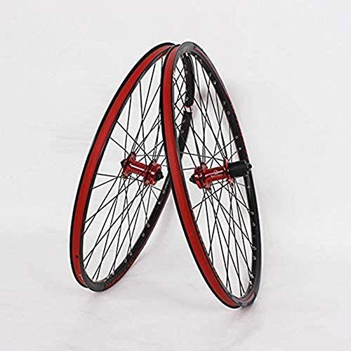 ZCBDNB Rueda De Bicicleta De Montaña, Ajuste De La Aleación Rodamiento De Bolas Engranaje Cassette Flywheel Bicicleta Rueda De Bicicleta Conjunto De Freno De Disco,26'