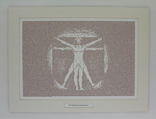Los cuadernos de Leonardo da Vinci by Leonardo Da Vinci–Póster de libro–texto Póster con pantalla plana