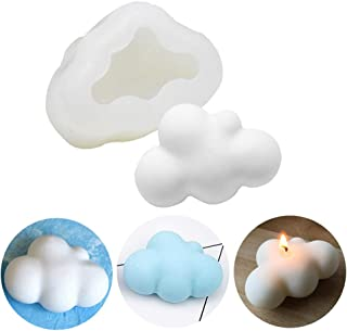 MoldFun 3D Cloud Silicone Mold for Fondant, Chocolate, Candy, Candle, Soap, Bath Bomb, Lotion Bar, Plaster of Paris (White...