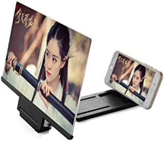 Screen Magnifier Screen Amplifier Mobile Phone Screen Magnifier 12 Inches Smartphone Screen Amplifier Phone Stand Screen Magnifier Acrylic HD 3d Video Projector Folding Portable Convenient Eye Protect