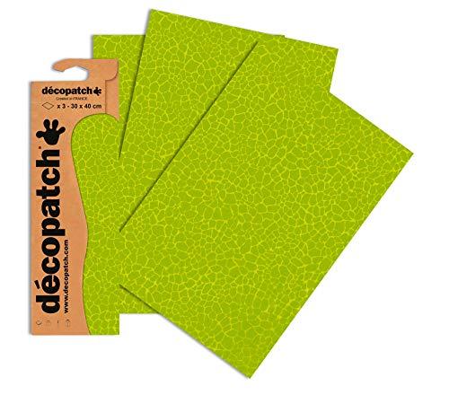 Decopatch Papier No. 531 (grün Giraffe, 395 x 298 mm) 3er Pack