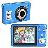 Cámara Digital 30 MP Camara de Fotos Digital Compacta 1080P Camara de Fotos con 8x Cámaras Zoom Digital para Adultos, Niños, Principiantes (Azul)