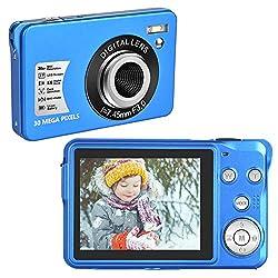 Fotocamera Digitale 30 MP Fotocamera Compatta Digitale 1080P Macchina Fotografica con Zoom Digitale 8X Fotocamere LCD da 2,7 Pollici per Adulti, Bambini, Principianti (blu)