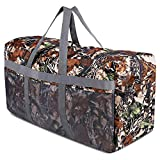 REDCAMP 96L Extra Large Duffle Bag Lightweight, Water Resistant Travel Duffle Bag Foldable for Men Women, Leaf Camouflage