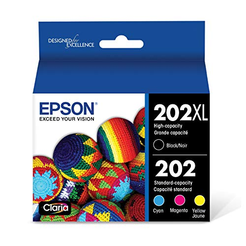 EPSON T202 Claria Ink High Capacity Black & Standard Color Cartridge Combo Pack (T202XL-BCS) for select Epson Expression and WorkForce Printers