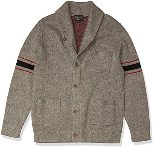 Pendleton Men's Archive Cardigan Sweater, Grey, MD