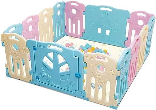 Baby Laufstall - Kids Activity Center Sicherheit Spielplatz Baby Zaun Spielbereich - Baby Gate Home Indoor Outdoor New Pen (Größe   14 Panels - 156x156x68cm)