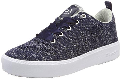 bugatti Damen 421407046969 Sneaker, Blau (Dark Blue/Silver), 39 EU