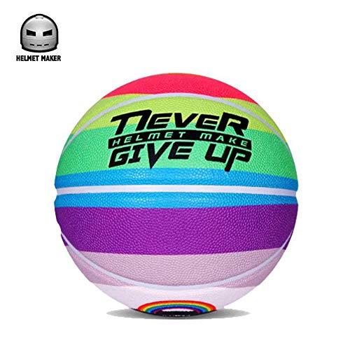 Save %31 Now! E.A@MARKET No. 7 Standard PU Rainbow Basketball Outdoor Graffiti Street Ball (Rainbow)