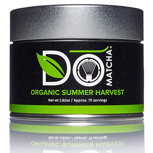 DoMatcha - Organic Summer Harvest Green Tea Matcha Powder, Natural Source of Antioxidants, Caffeine, and L-Theanine, Promotes Focus and Relaxation, Kosher, 75 Servings (2.82 oz)