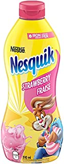Nestle NESQUIK Strawberry Flavored Syrup Mix - Less Sugar 510ml
